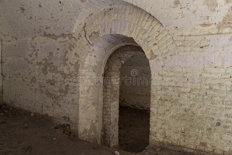 Ruina inside fort Tarakanovskiy Dubno Ukraina obraz royalty free