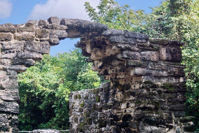 Ruina maya en Cozumel, México imágenes de archivo libres de regalías
