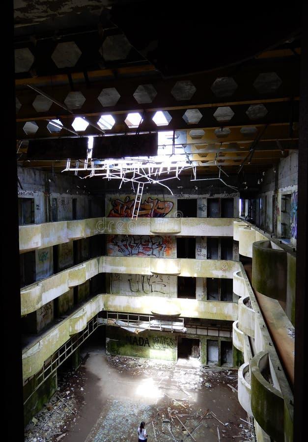 Ruina pięć gwiazdowy hotel obraz stock