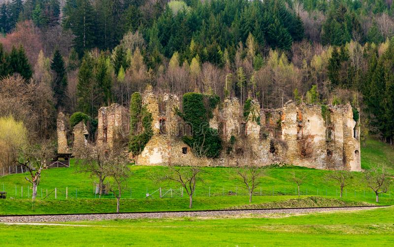 Ruina Randegg obraz royalty free