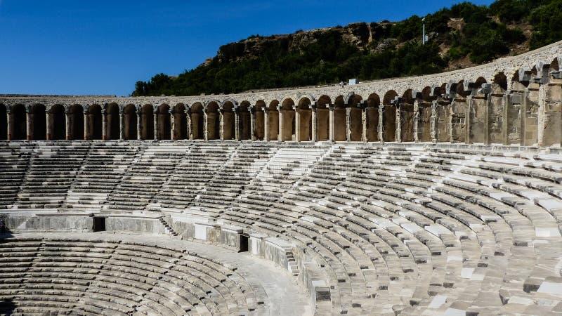 Ruina romana antigua del coloseum en Turquía foto de archivo libre de regalías