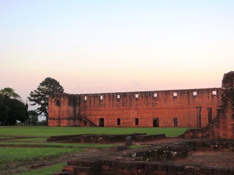 Ruina som är jesuitic från Paraguay royaltyfri foto