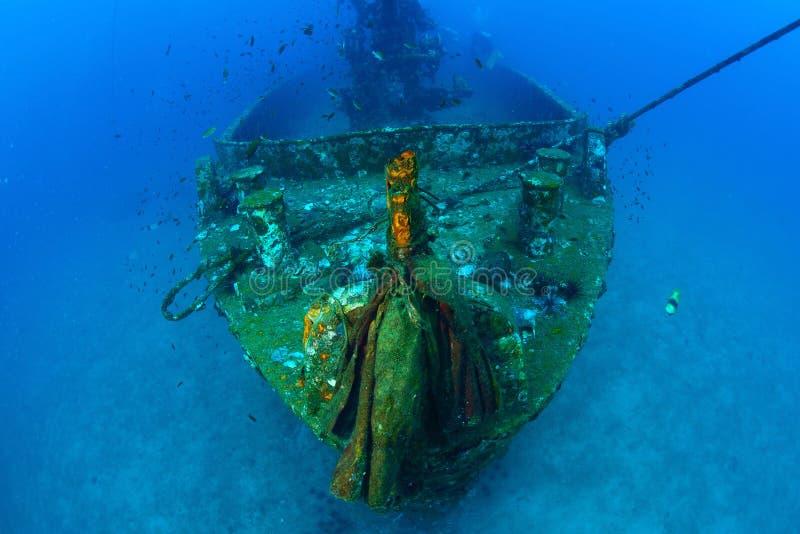 Ruina subacuática, arma, Tailandia foto de archivo
