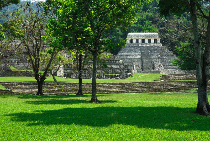 ruinach palenque zdjęcie stock