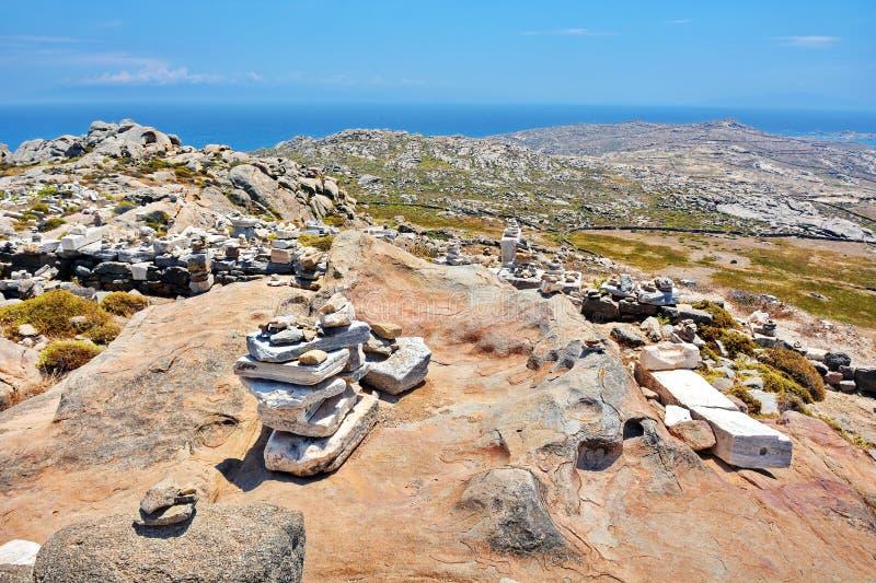 Ruinas antiguas de Delos, Grecia fotos de archivo libres de regalías