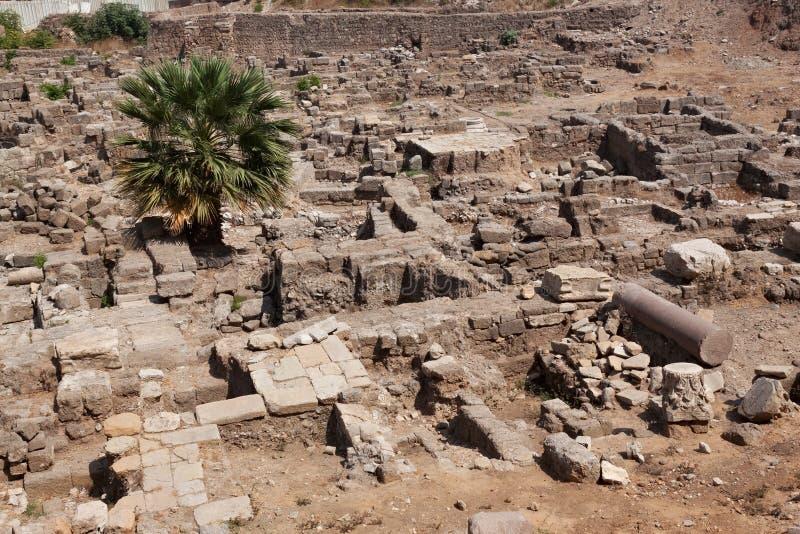 Ruinas antiguas de la época romana en el centro histórico de Beirut, Líbano imagen de archivo libre de regalías