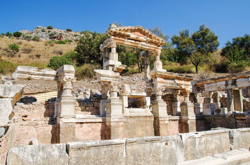 Ruinas antiguas de la ciudad de Efes Efesus en Turquía imagen de archivo