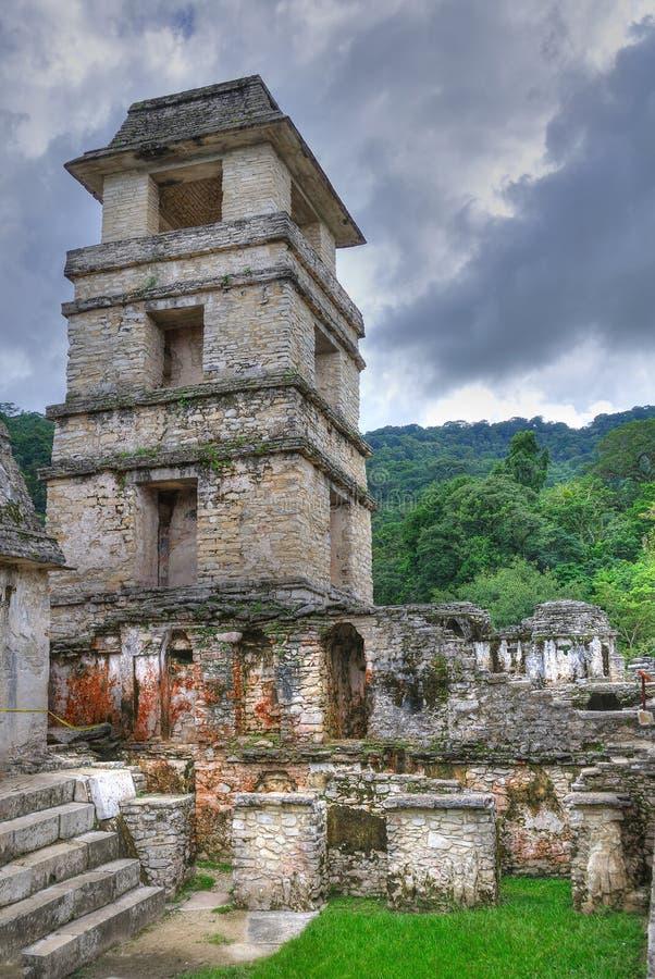 Ruinas antiguas del maya de Palenque, México fotos de archivo