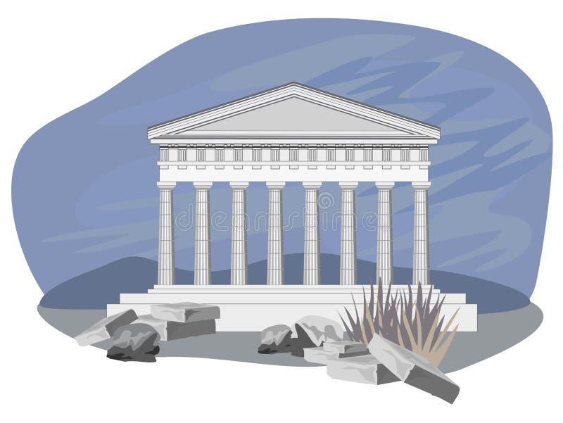 Ruinas antiguas del templo libre illustration