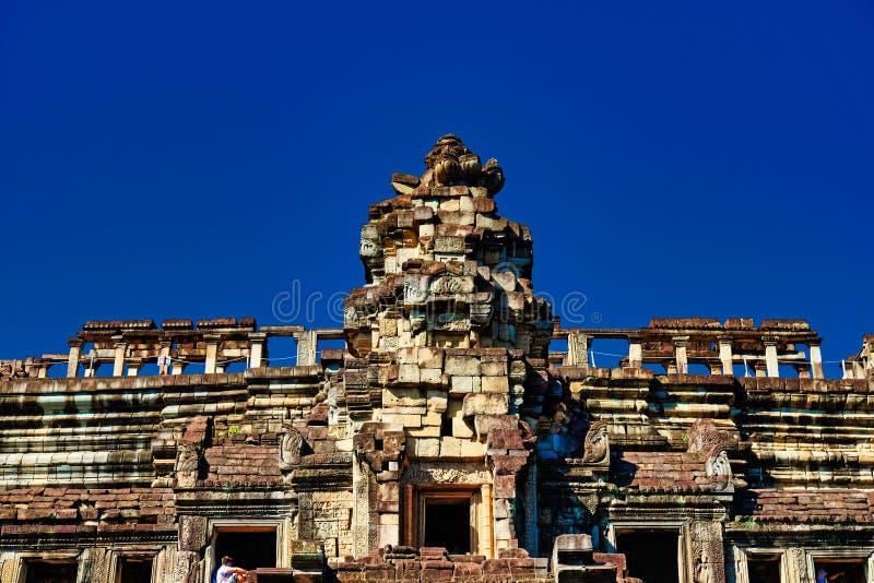 Ruinas antiguas en Asia sudoriental Construcción de piedra antigua del imperio del Khmer Monumentos de civilizaciones antiguas fotos de archivo