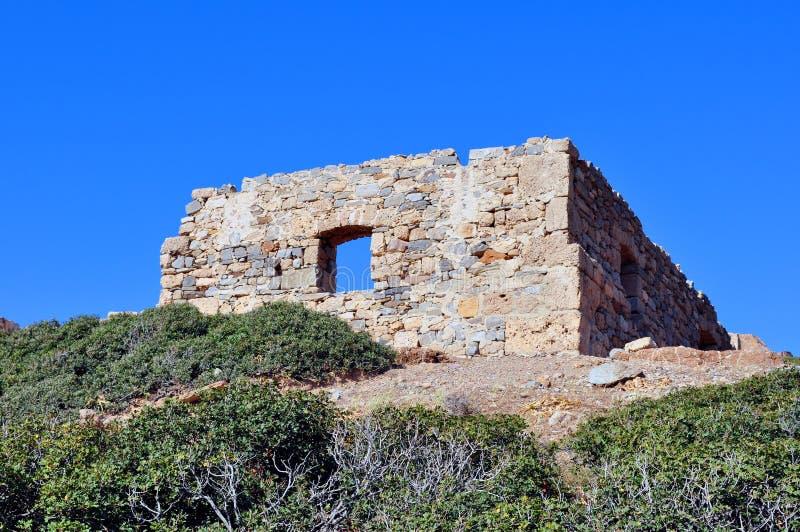 Ruinas antiguas en Crete, Grecia imagenes de archivo