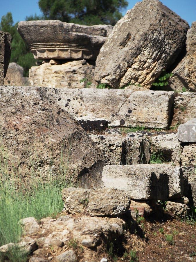 Ruinas antiguas Olympia Greece imagen de archivo libre de regalías