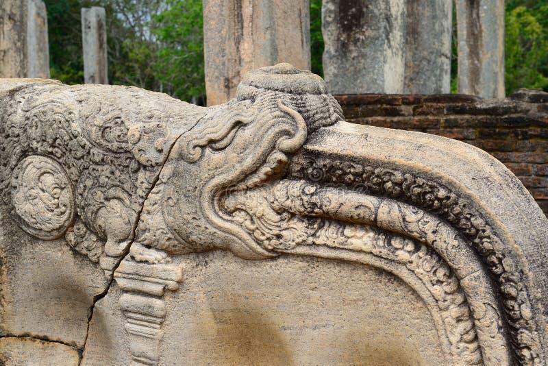 Ruinas antiguas y ciudad sagrada de Anuradhapura, Sri Lanka fotografía de archivo libre de regalías