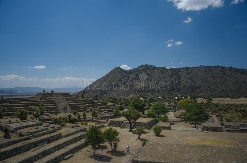 Ruinas arqueológicas en México foto de archivo