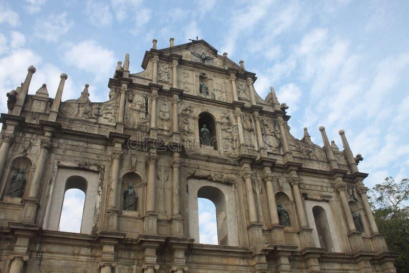 Ruinas da Antiga Catedral de Sao Paulo obrazy stock