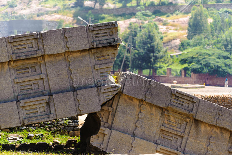 Ruinas de Aksum (Axum), Etiopía fotografía de archivo libre de regalías