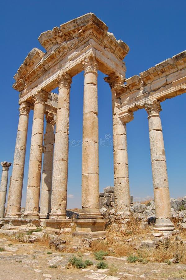 Ruinas de Aphamia, Siria imagen de archivo libre de regalías