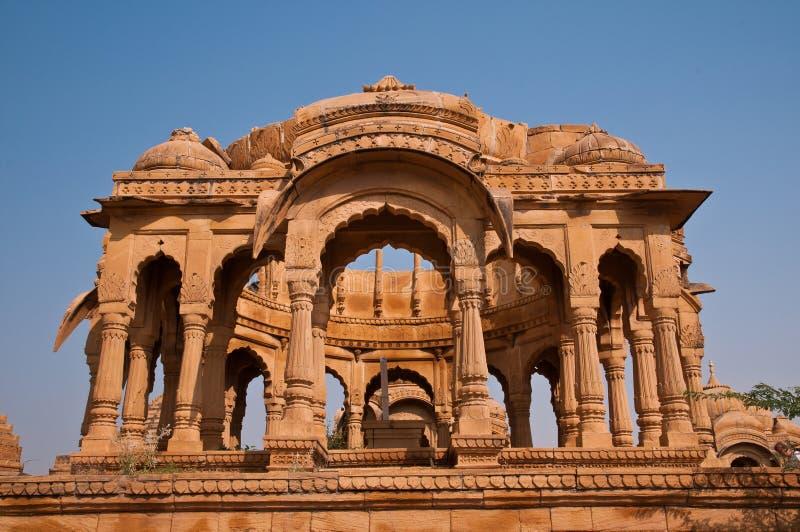 Ruinas de Bada Bagh en Jaisalmer imágenes de archivo libres de regalías