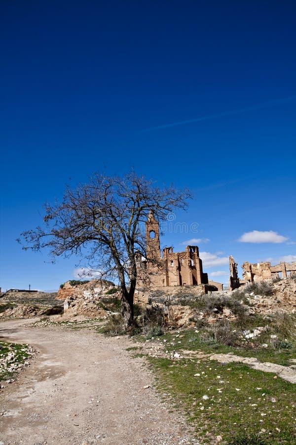 Ruinas de Belchite imagen de archivo
