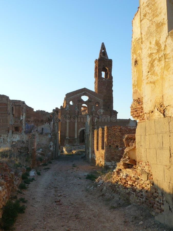 Ruinas de Belchite, Zaragozxa, España fotografía de archivo