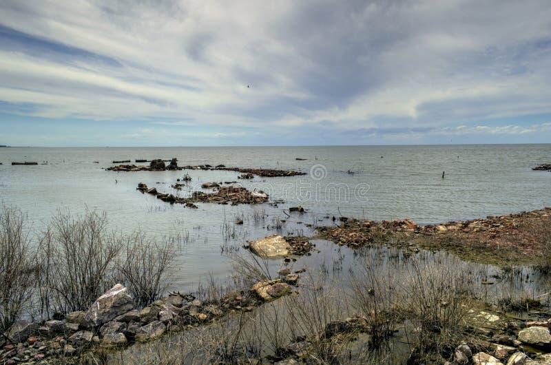 Ruinas de casas en la ciudad de Miramar foto de archivo libre de regalías