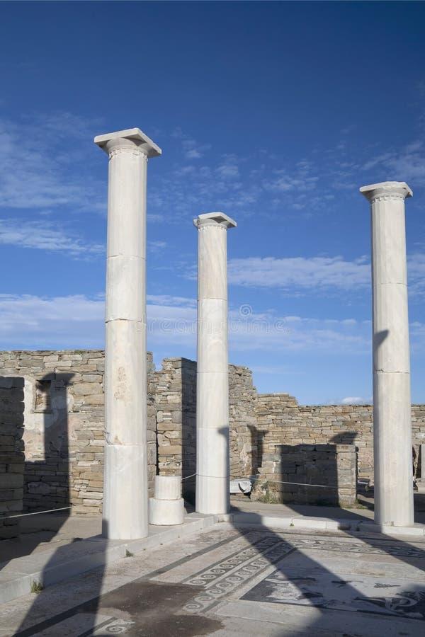 Ruinas de Delos imagenes de archivo