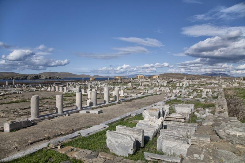 Ruinas de Delos fotos de archivo