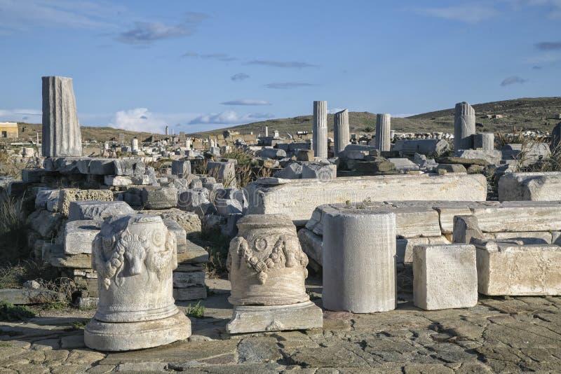 Ruinas de Delos fotografía de archivo