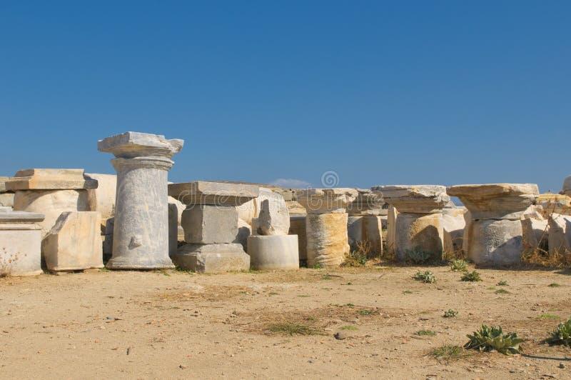 Ruinas de Delos, Grecia foto de archivo