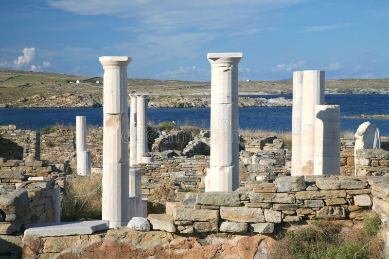 Ruinas de Delos, Grecia foto de archivo libre de regalías