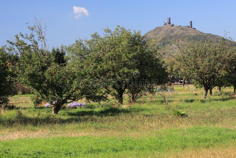 Ruinas de Hazmburk foto de archivo libre de regalías