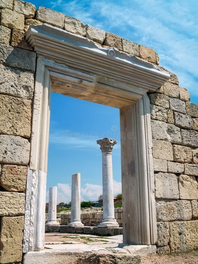 Ruinas de Hersones imagen de archivo libre de regalías