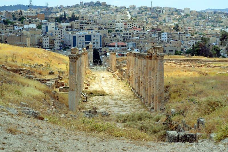 Ruinas de Jerash imagenes de archivo