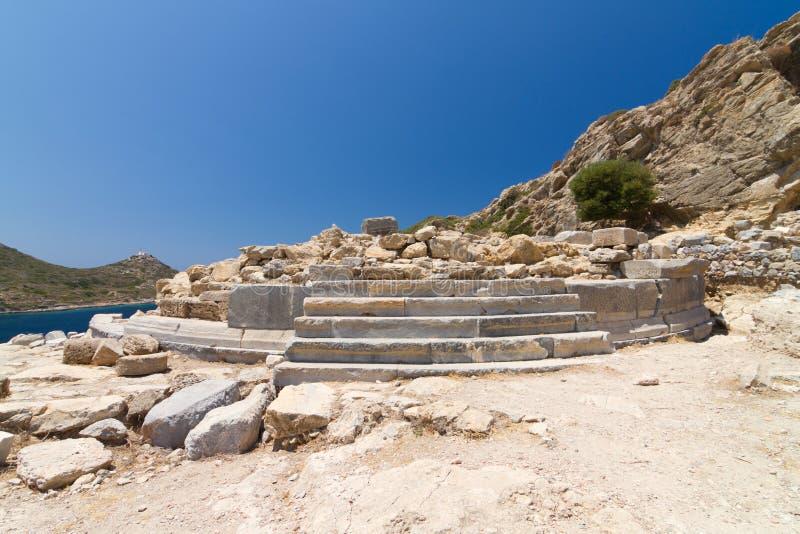 Ruinas de Knidos imagen de archivo
