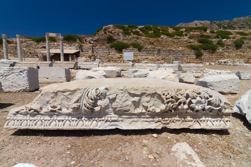 Ruinas de Knidos fotos de archivo libres de regalías