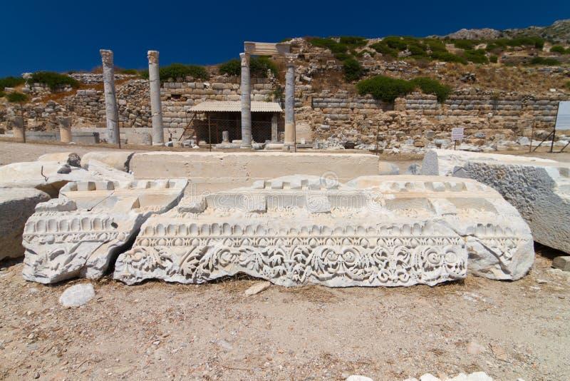 Ruinas de Knidos foto de archivo