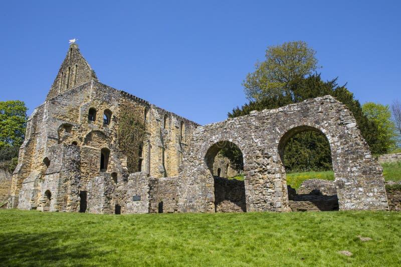 Ruinas de la abadía de la batalla en Sussex del este imagen de archivo libre de regalías