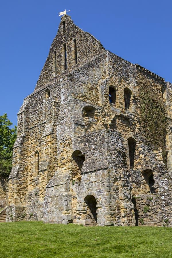 Ruinas de la abadía de la batalla en Sussex del este imágenes de archivo libres de regalías