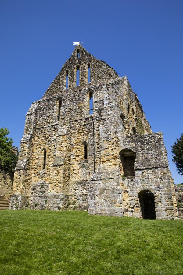 Ruinas de la abadía de la batalla en Sussex del este foto de archivo