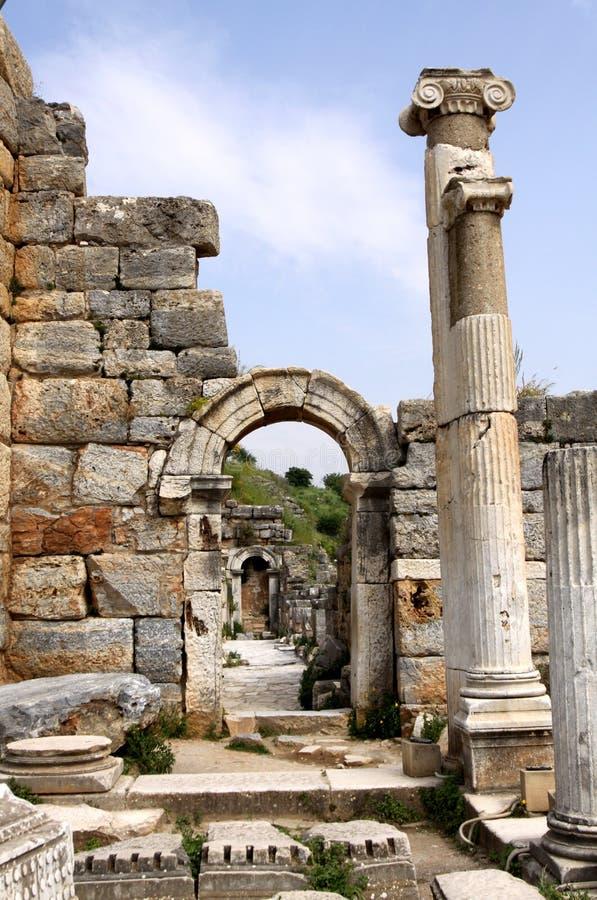 Ruinas de la antigüedad en Ephesus imagen de archivo