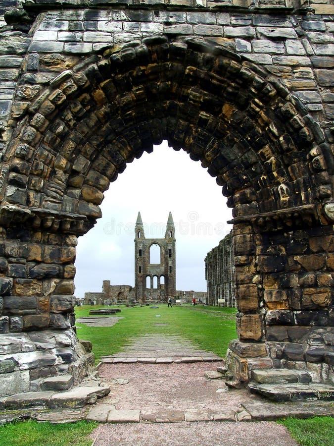 Ruinas de la catedral de Saint Andrews, Escocia foto de archivo libre de regalías