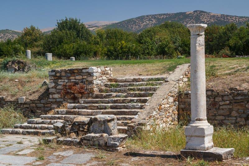 Ruinas de la ciudad antigua de Aphrodisias imagen de archivo