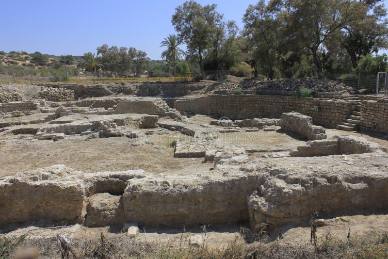 Ruinas de la ciudad antigua de Ashkelon bíblico en Israel imagen de archivo libre de regalías