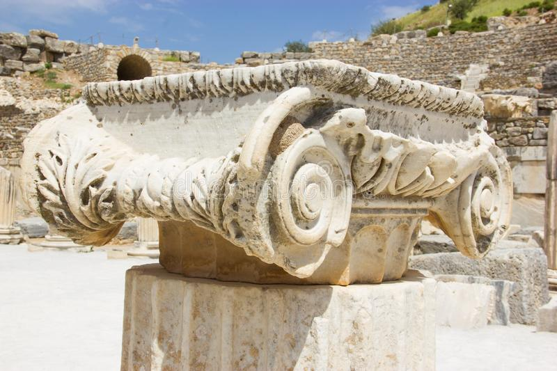 Ruinas de la ciudad antigua de Ephesus en Turquía imagen de archivo