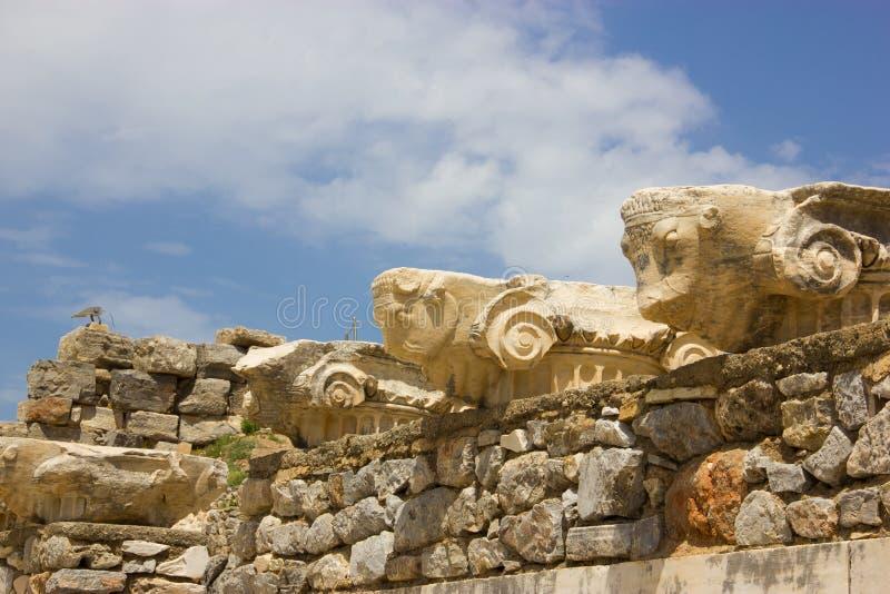 Ruinas de la ciudad antigua de Ephesus en Turquía fotografía de archivo