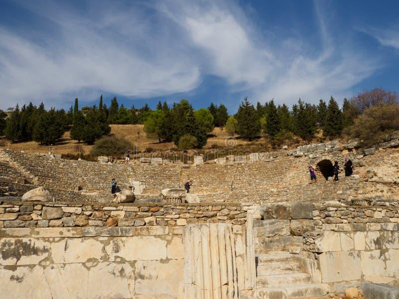 Ruinas de la ciudad antigua de Ephesus, Esmirna, Turquía imagenes de archivo