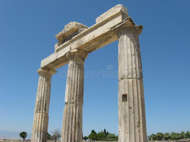 Ruinas de la ciudad antigua Hierapolis, Turquía foto de archivo