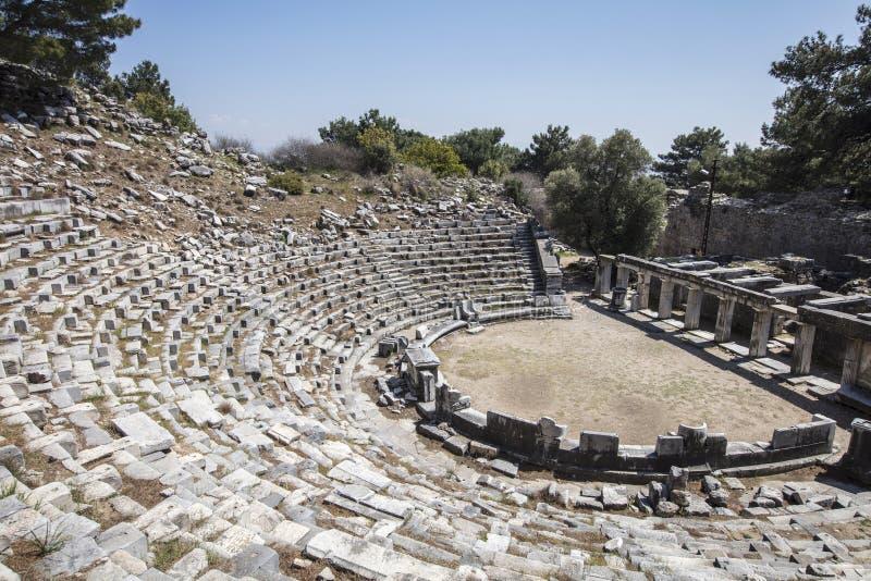 Ruinas de la ciudad antigua de Priene, Turquía foto de archivo