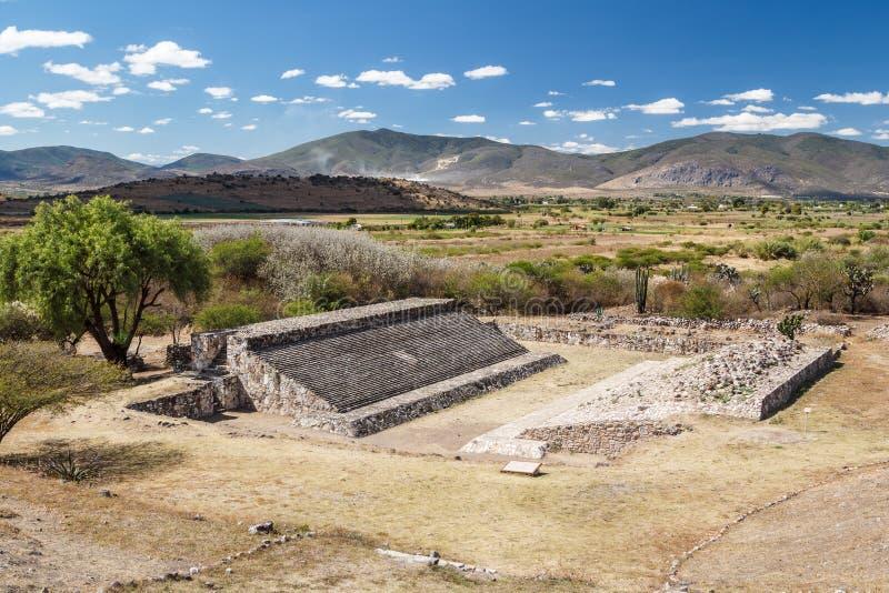 Ruinas de la ciudad Dainzu, Oaxaca de los pre-hispanos de Zapotec foto de archivo libre de regalías