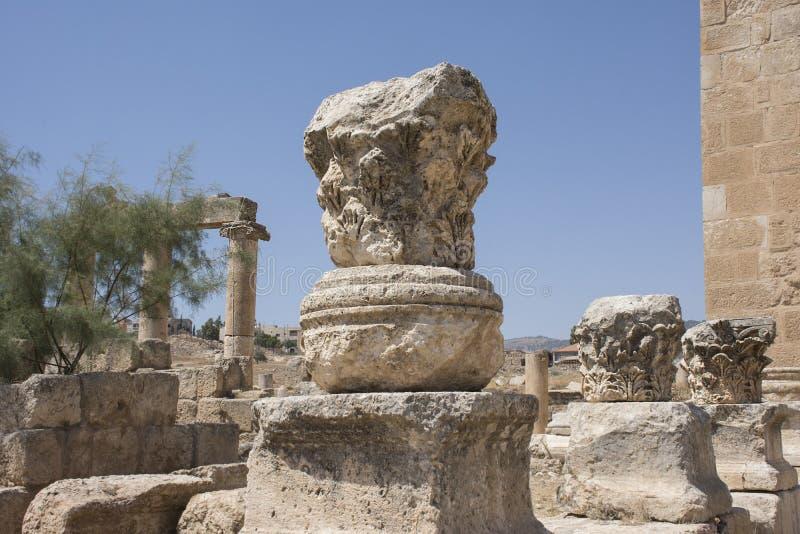 Ruinas de la ciudad de Jerash en Jordania imagenes de archivo